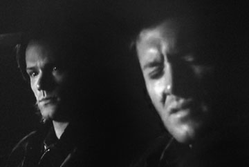 I love the look on Sam's face when he sees Dean singing along to Air Supply!