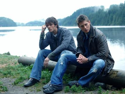 Older photo; Sam & Dean at the lake
