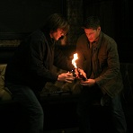 Dean and Sam, lighting a fire...