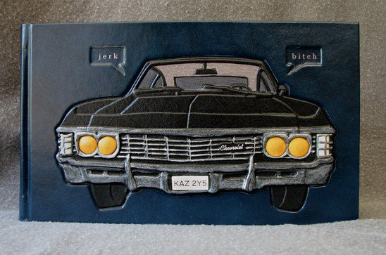 custom artist's binding with Impala