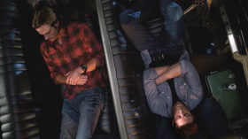 "sam and dean sleeping in ""Baby"""
