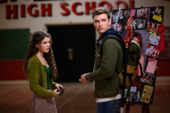 """Supernatural -- """"Atomic Monsters"""" -- Image Number: SN1501b_0030r.jpg -- Pictured (L-R): Mellany Barros as Veronica and Burkely Duffield as Billy Whitman  -- Photo: Diyah Pera/The CW -- © 2019 The CW Network, LLC. All Rights Reserved."""