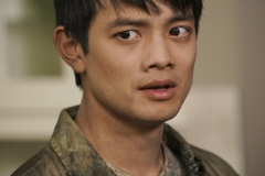 "Supernatural -- ""Raising Hell"" -- Image Number: SN1503A_0134b.jpg -- Pictured: Osric Chau as Kevin Tran -- Photo: Colin Bentley/The CW -- © 2019 The CW Network, LLC. All Rights Reserved."