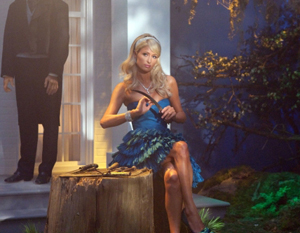 """""""Fallen Idols"""" - Paris Hilton as herself in SUPERNATURAL on The CW. Photo: Jack Rowand/The CW ©2009 The CW Network, LLC. All Rights Reserved."""
