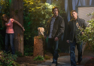"""""""Fallen Idols"""" - Jared Padalecki as Sam, Jensen Ackles as Dean in SUPERNATURAL on The CW. Photo: Jack Rowand/The CW ©2009 The CW Network, LLC. All Rights Reserved."""