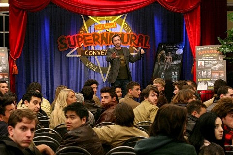 """""""The Real Ghostbusters"""" -  Rob Benedict as Chuck in SUPERNATURAL on The CW. Photo: David Gray/The CW ©2009 The CW Network, LLC. All Rights Reserved."""