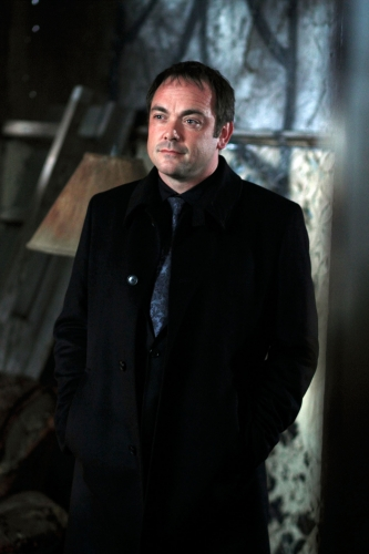 """""""The Devil You Know"""" - Mark Sheppard as Crowley in SUPERNATURAL on The CW.Photo: Michael Courtney/The CW©2010 The CW Network, LLC. All Rights Reserved."""